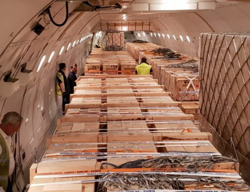 Air transport of industrial parts