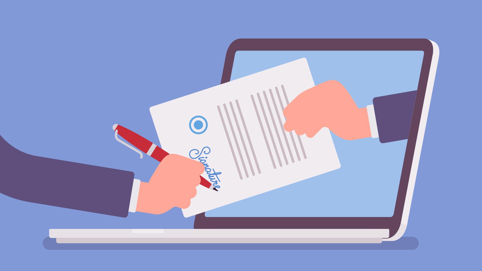 Documentación electrónica en procesos aduaneros